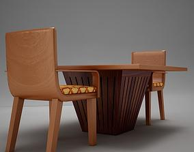 table chairs 3D