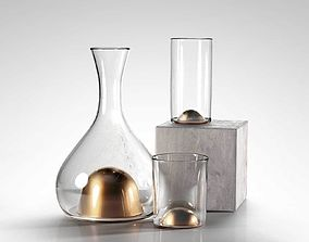 Bubbled Geyser Decanters 3D base
