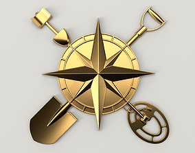3D print model Treasure Hunter Logo Sign Relief