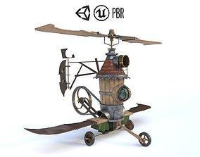 Airship 3D model low-poly