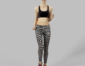 Barbara Attractive Sports Woman Running Jogging 3D model