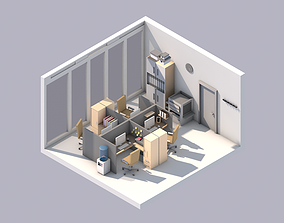 Office models pack Low-poly 3d models game-ready