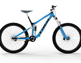 3D asset animated Mountain bike