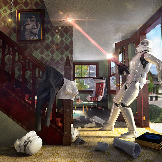 Stormtrooper Invited Home Early.