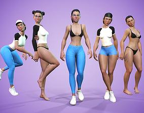Modular Stylized Female Character 3D model