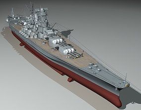 YAMATO battleship1 3D model