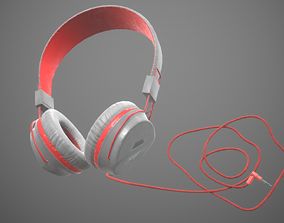 audio-device 3D model game-ready Headphones