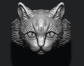 jewelry Cat ring 3D printable model
