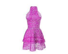 lace dress 3D asset