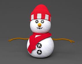 snowman Low-poly 3D model realtime