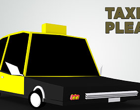 3D asset Toon Taxi car