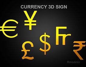 3D Currency sign