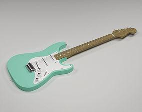 Electric guitar Fender Stratocaster 3D