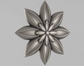 3D print model fronton Decor Rosettes