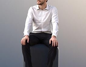 Kenneth 10008 - Sitting Business Man 3D asset