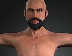 A man who has a beard 3D model