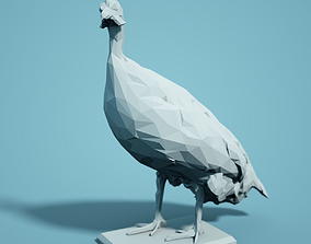 Low Poly Bird Model facet