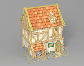 3D model village Cartoon house