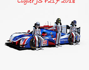 Ligier JS P217 2018 3D asset