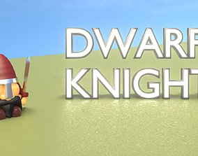 3D asset Gnome Dwarf Knight Character - Funny Little