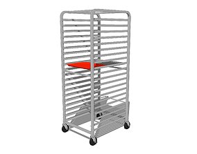 3D Sheet Tray Rack With Trays on Casters