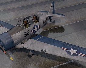 aircraft North American T-6 Texan 3D model