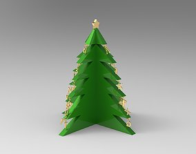 Alphabetical Christmas Tree with Three 3D print model 1