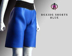 3D asset Boxing Shorts - Blue