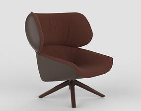 3D asset B B Italia Tabano Chair Maroon