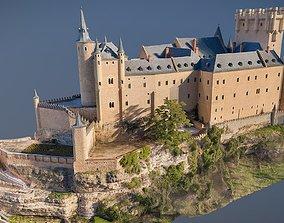 Gothic Medieval Castle - Low Poly 3D model