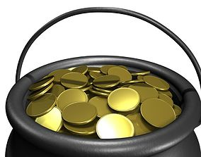 3D model Pot of Gold patricks