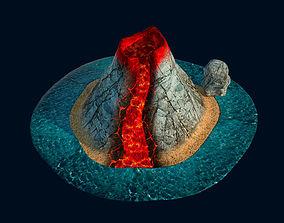 Volcano animate 3D