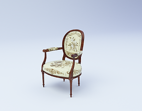 Classic Armchair retro 3D