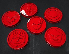 3D print model LOST GALAXY POWER RANGERS COINS