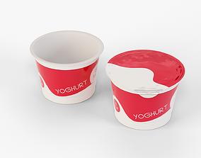 3D model Yogurt Cup 200ml