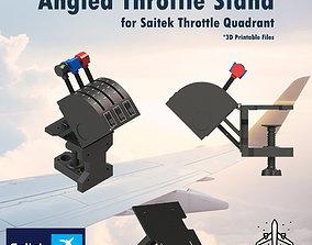 ANGLED THROTTLE STAND FOR SAITEK THROTTLE 3D print model