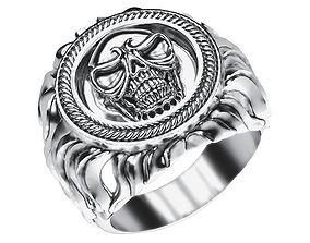 Ring 024 skull 3D printable model