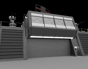 Futuristic Military Command Bunker 3D