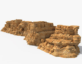 3D model concrete Desert Rock
