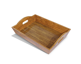 Wooden Tray 3D