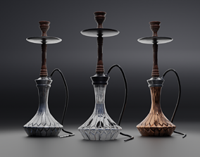 Arabic Moroccan hookah 3D model