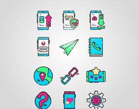 3D Social Media and Web Icons Emoji web