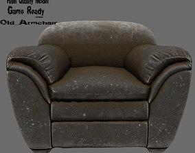 seat Armchair 3D asset low-poly
