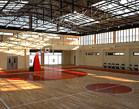 Basket Ball School Gym 3D model