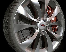 3D highway car tire