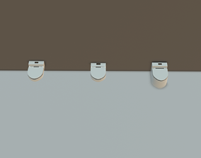 Round WC Toilet Pack 3D asset