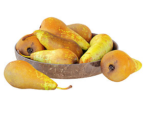 Pears Conference Round Plate 3D