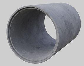 Concrete Pipe 1A 3D asset