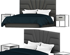 Modern Panel Diamond Bed 3D model