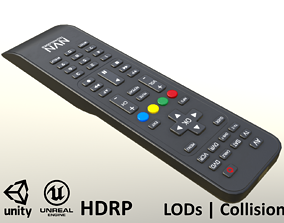 3D model 2000s TV Remote Control Black